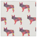 French Bulldog Silhouette Tiled Fabric