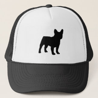 french bulldog silhouette trucker hat