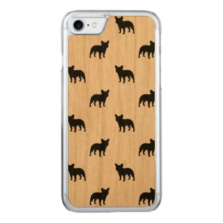 French Bulldog Silhouettes Pattern Carved iPhone 8/7 Case