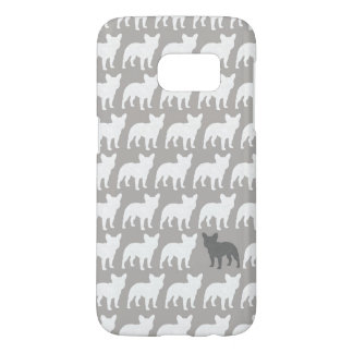 French Bulldog Silhouettes Pattern Samsung Galaxy S7 Case