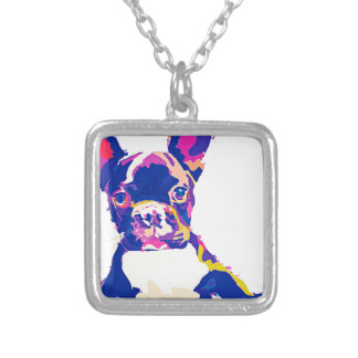 French Bulldog Silver Plated Necklace