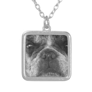 french-bulldog silver plated necklace