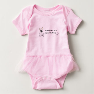 french bulldog sister baby bodysuit