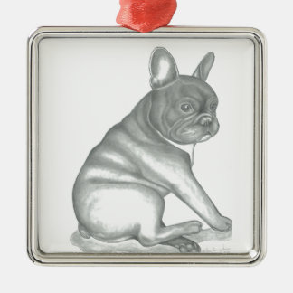 French Bulldog sketch ornament