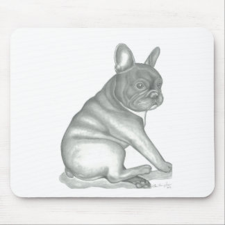 French Bulldog Sketch Style Mousepad