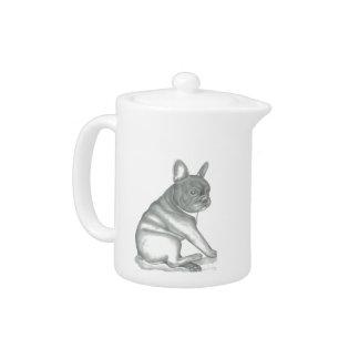 French Bulldog sketch teapot