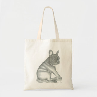 French Bulldog sketch tote