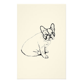 French Bulldog Stationery Paper