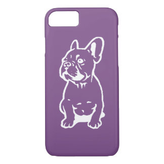 French Bulldog Stencil Art Phone Case