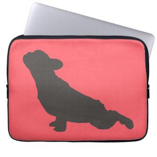 French Bulldog Stretching Laptop Sleeves