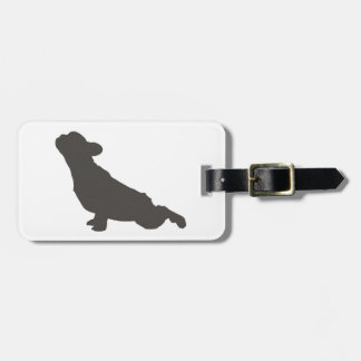 French Bulldog Stretching Luggage Tag