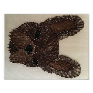 French Bulldog String Art Poster