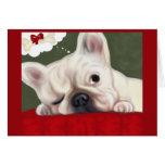 French Bulldog Sweet Dreams Greeting Card
