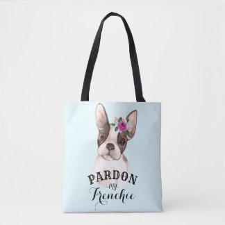 French Bulldog Tote Bag - Blue