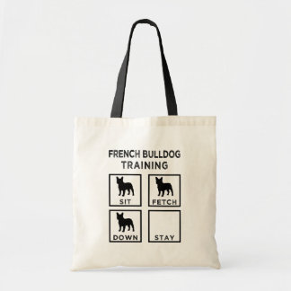 French Bulldog Training funny tote bag