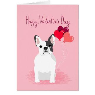 French Bulldog Valentines Card