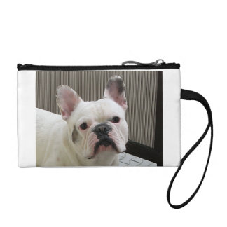 French_Bulldog white Coin Wallets