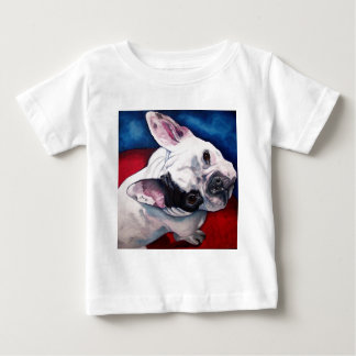 French Bulldog White with Patch Tshirts