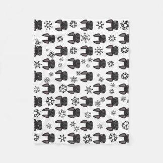 French Bulldog Winter Fleece Blanket