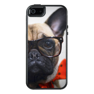 French Bulldog With Glasses And Bow Tie OtterBox iPhone 5/5s/SE Case