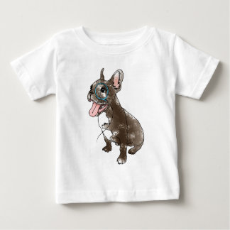 French bulldog with monocle t shirt