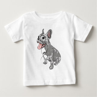 French bulldog with monocle tees