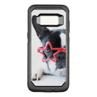 French Bulldog With Red Star Glasses OtterBox Commuter Samsung Galaxy S8 Case