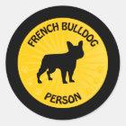 French Bulldog Xing Classic Round Sticker