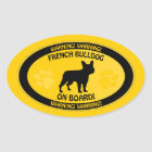 French Bulldog Xing Oval Sticker