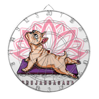 French Bulldog Yoga - Bhujangasana Pose - Funny Dartboard