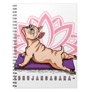French Bulldog Yoga - Bhujangasana Pose - Funny Notebook