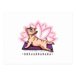 French Bulldog Yoga - Bhujangasana Pose - Funny Postcard