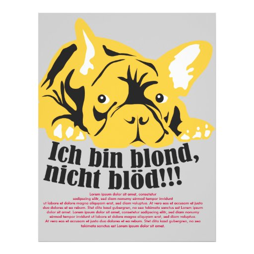 French Bulldogge: Blond! Personalized Flyer
