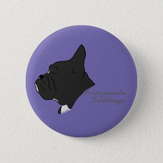 French Bulldogge head silhouette 2 Inch Round Button