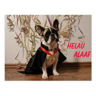 French Bulldogge postcard carnival
