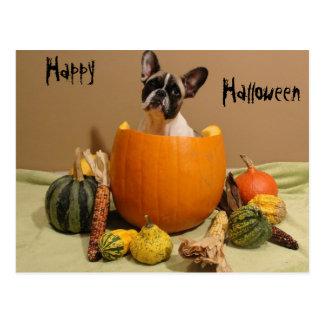 French Bulldoggen postcard Halloween