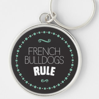 French Bulldogs Rule – Black Keychain