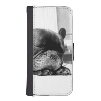 French bulldogs sleeping iPhone SE/5/5s wallet case