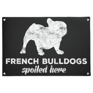 French Bulldogs Spoiled Here Doormat