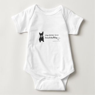 french bullodg - more breeds baby bodysuit