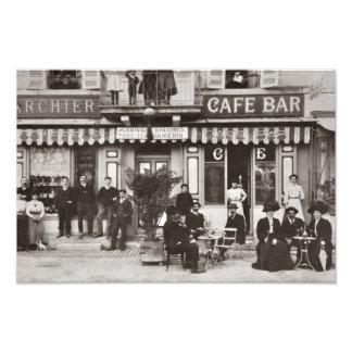 French cafe bar street scene photo print