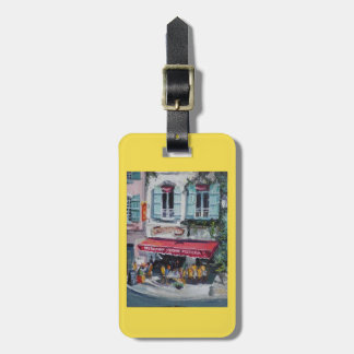 French Cafe Luggage Purse or key chain tag