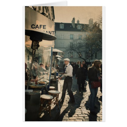 french cafe waiter cards