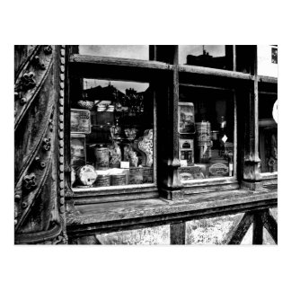French candy shop postcard