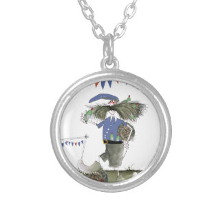 french capitaine footballeur silver plated necklace
