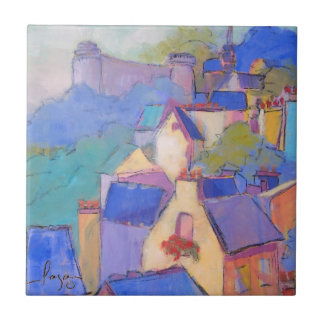 French Castle Art Tile