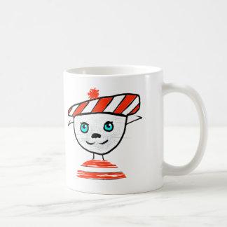 French Cat Bonjour Mug
