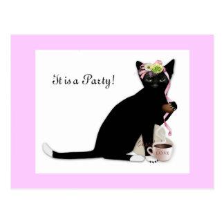 French Cat Bridal Postcard