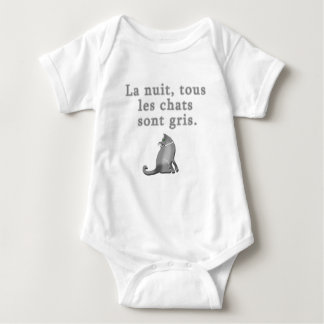 French Cats Saying Products Baby Bodysuit