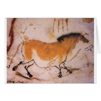 French Cave Horse Painting Card